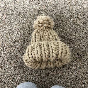 Knitted Pom Pom hat urban outfitters